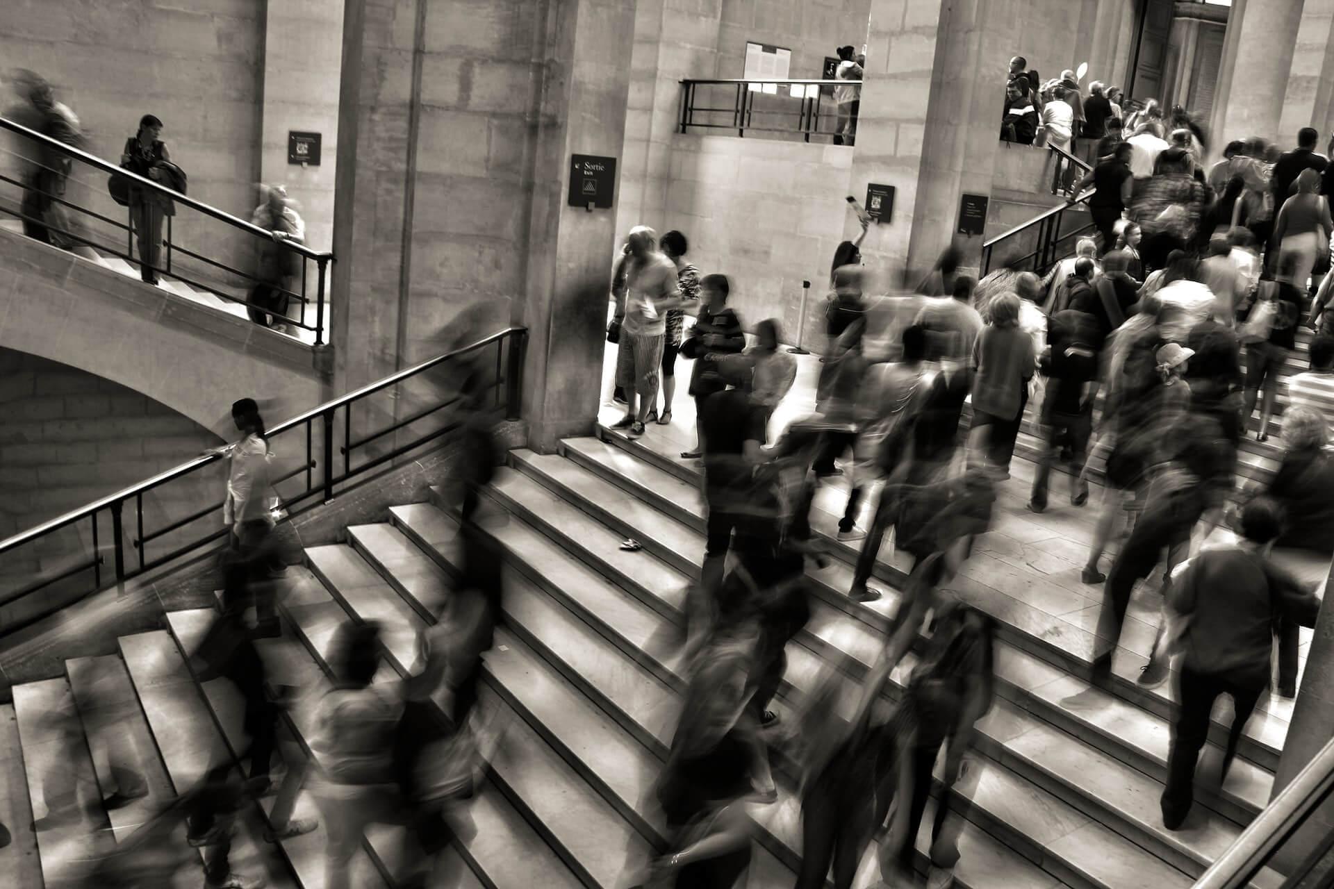 Menschen-Treppen