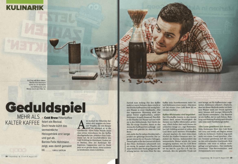 Cold Brew Coop Zeitung