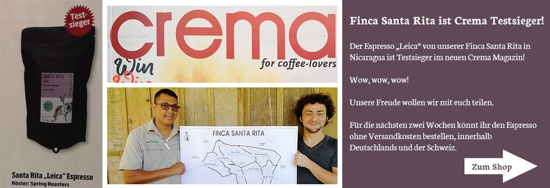 "Crema Testsieger Espresso: Santa Rita ""Leica"""