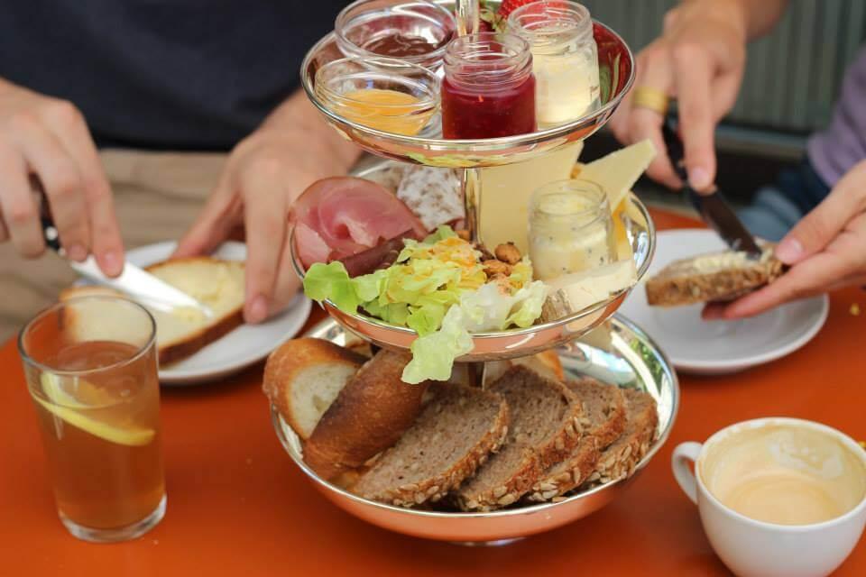 Frühstück Café frühling