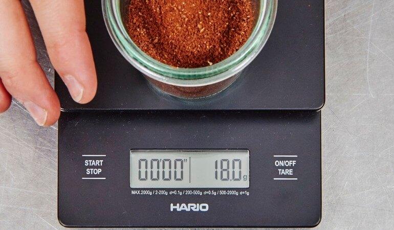Kaffeepulver pro Tasse