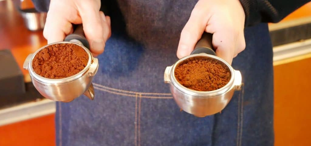 Dunkler und heller Espresso