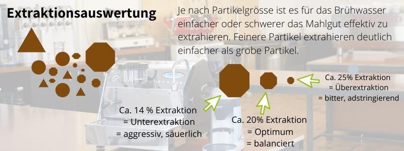 Extraktionsauswertung Graef CM800