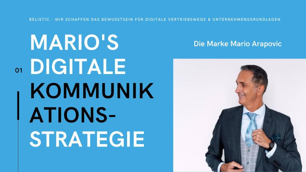 Marios digitale Kommunikationsstrategie