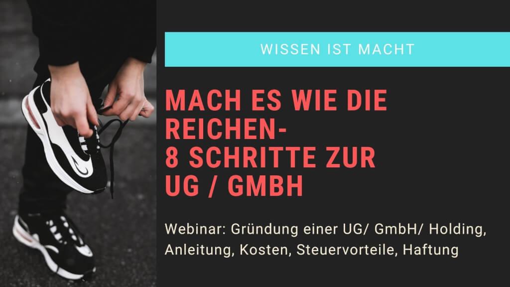 8 Schritte zur UG hafttungsbeschraenkt oder GmbH 1
