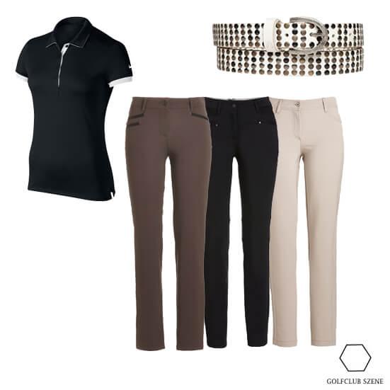 Drei Hosen ein Outfit