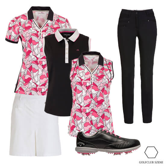 Fairway Blumen Outfit