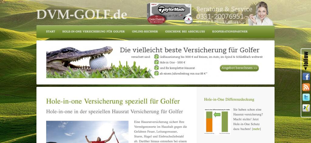 Hole in One Versicherung speziell fuer Golfer