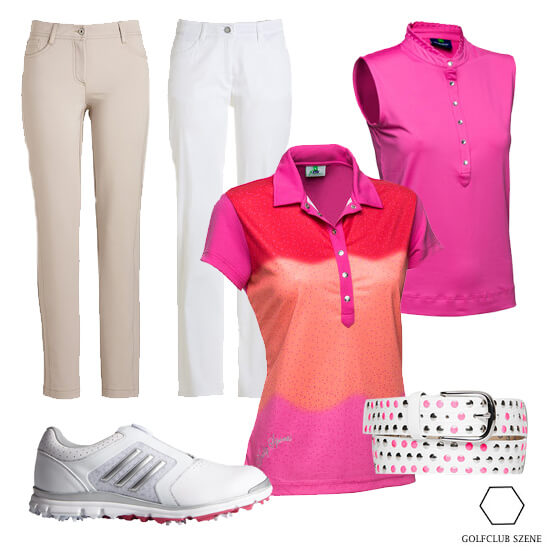 Knallig pinker Look Outfit