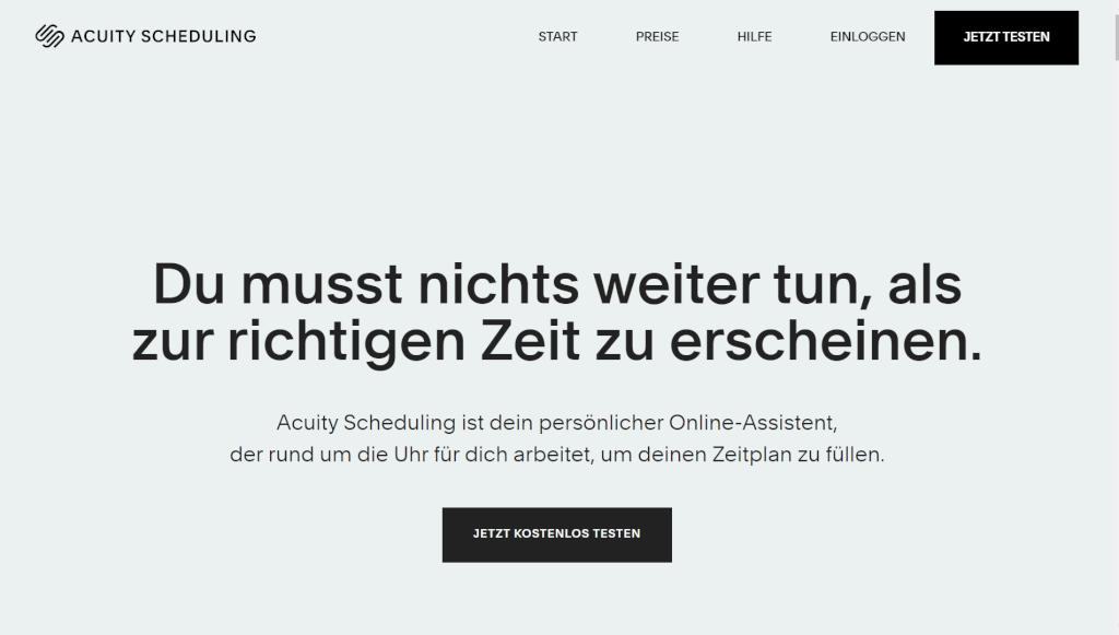 Acuity Online Terminvereinbarung