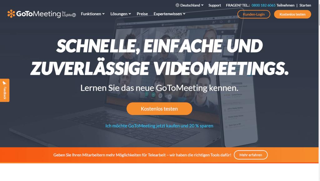 Online Meetings und HD Videokonferenzen GoToMeeting