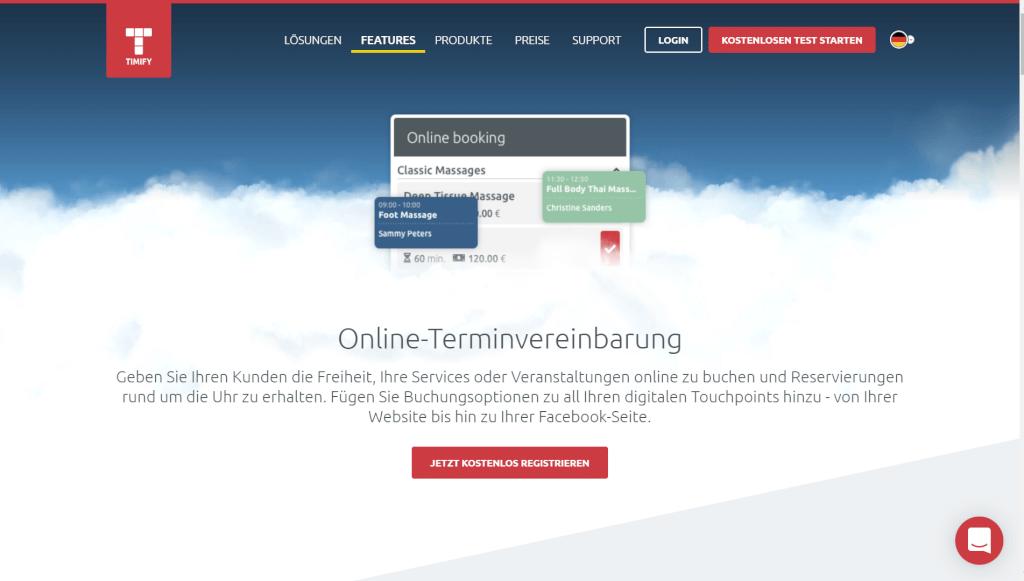 Online Terminbuchung Funktionen TIMIFY Deutschland