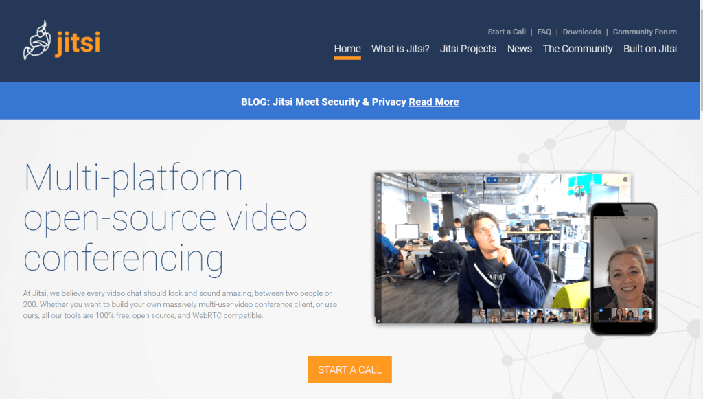 Jitsi org   develop and deploy full featured video conferencing