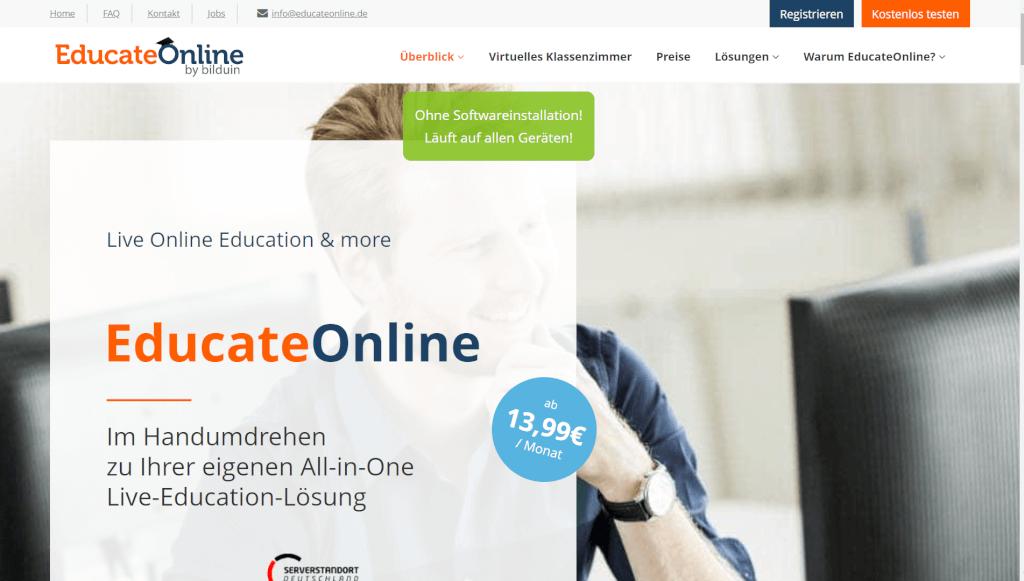 Online Education Portal Schulungen Kurse Webinare HD Webkonferenz EducateOnline