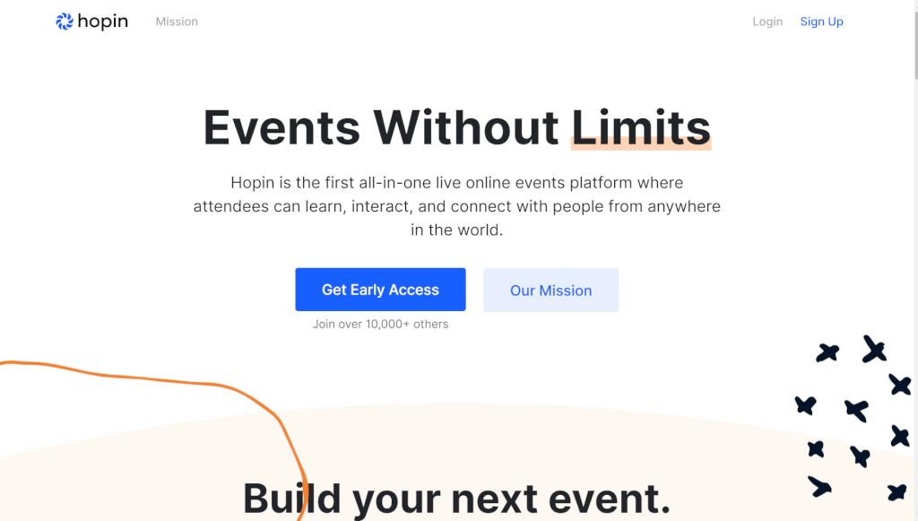 Online Events Platform Hopin