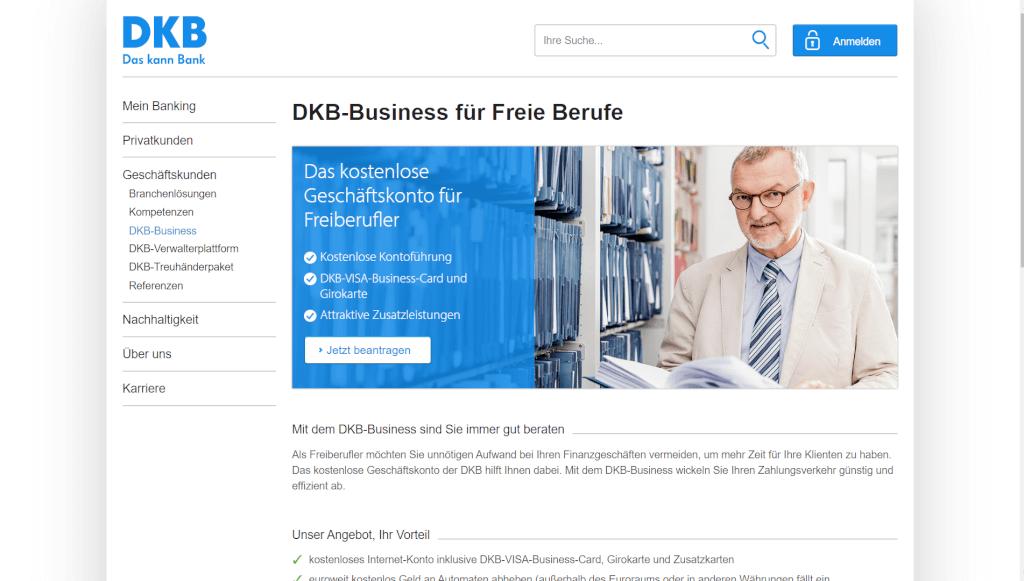 DKB Business fuer Freiberufler DKB AG