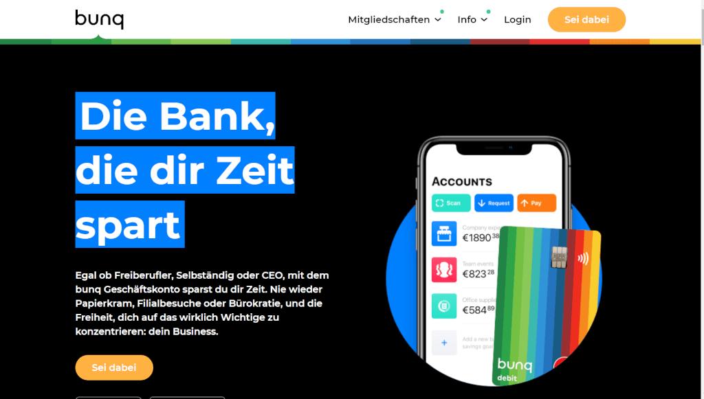 bunq Geschaeftsbankkonto