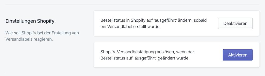 Versandnachricht von Shopify 1