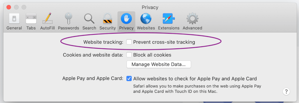 prevent cross site tracking