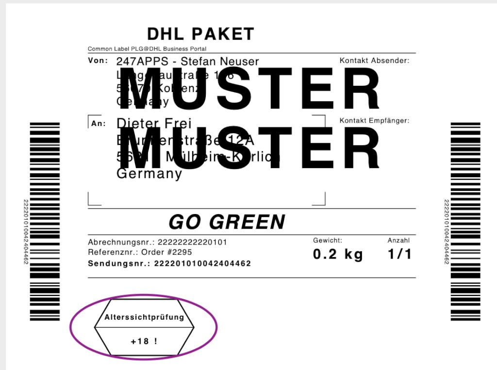 usk check easyDHL Label