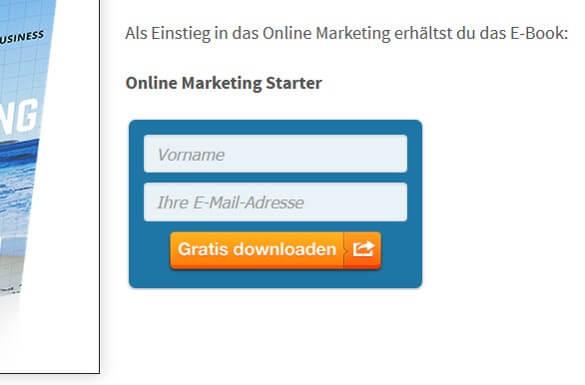 E Mail Anmeldeformular