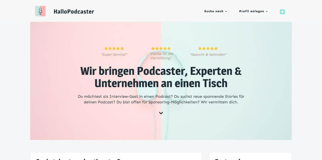 HalloPodcaster Interview Gaeste Podcast Werbung finden