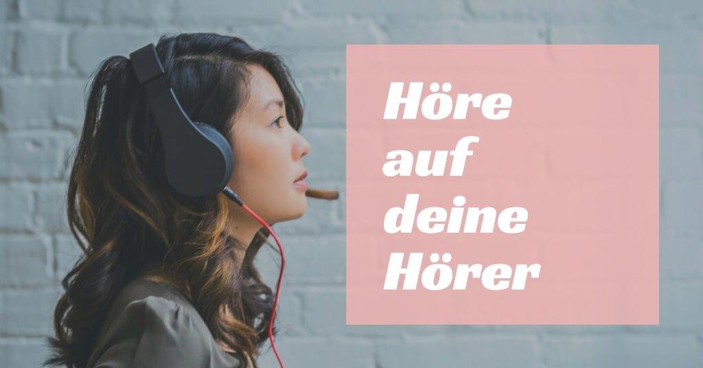 Hoere auf deine Hoerer   Podcast Gaeste finden   HalloPodcaster