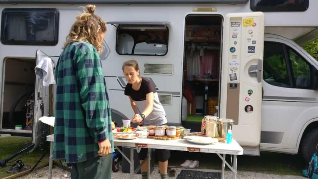 Camping und Mountainbiken