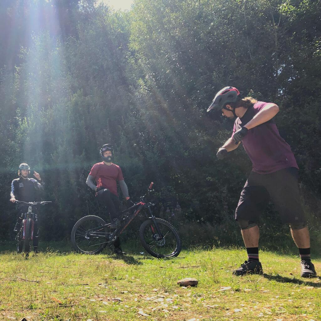 MTB Fahrtechnik in Theorie und Praxis beim Bike Camp im Bikepark Geisskopf