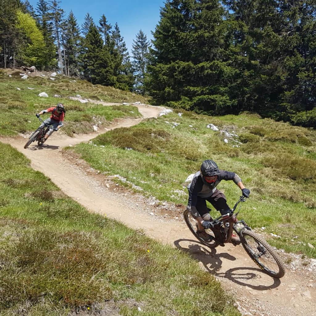 Linienwahl beim Bike Camp Tirol