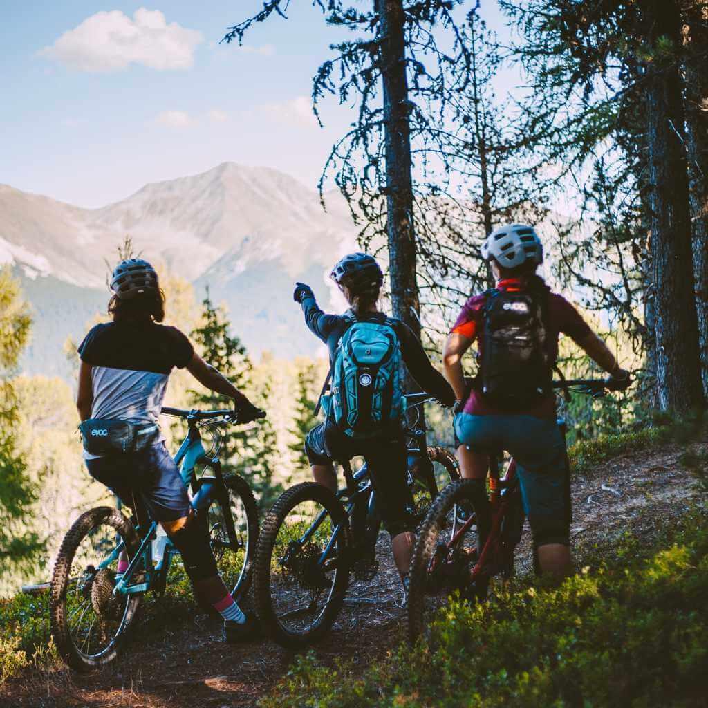 den ausblick geniessen gehört beim women bike camp reschensee dazu