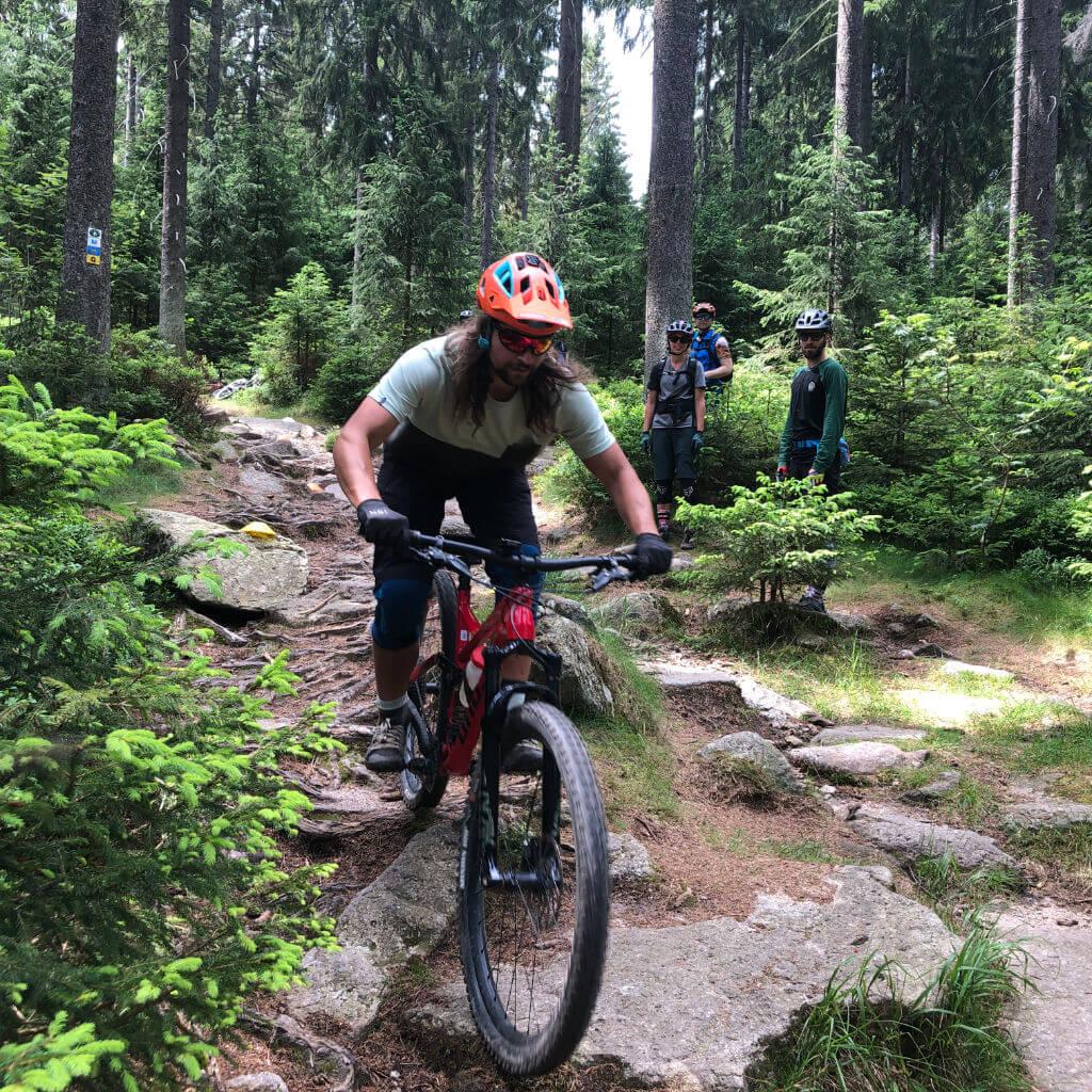 Linienwahl ist ein zentrales Thema beim Bike Camp Ochsenkopf im Fichtelgebirge