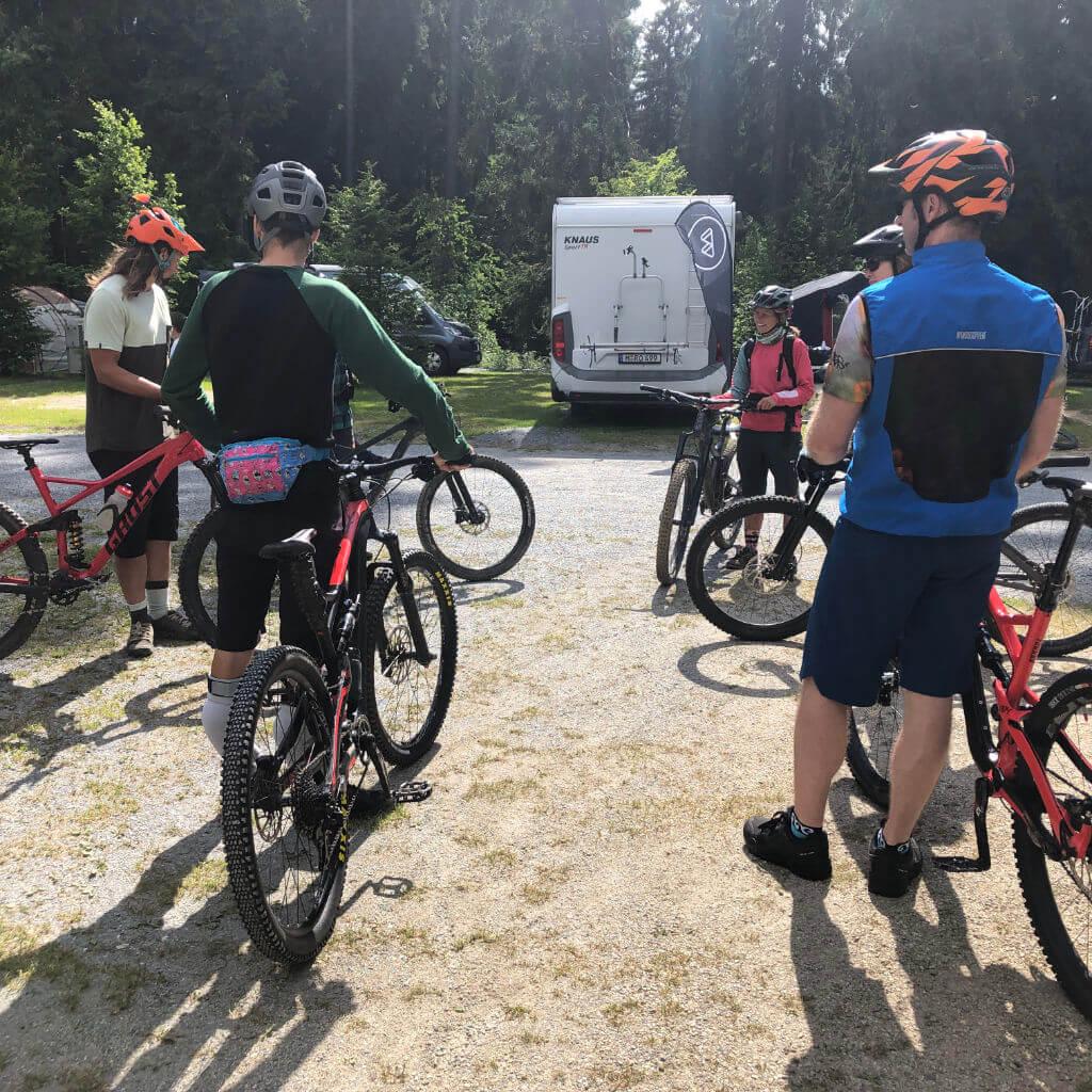 Bike-Check vor der MTB Toure beim Bike Camp Ochsenkopf