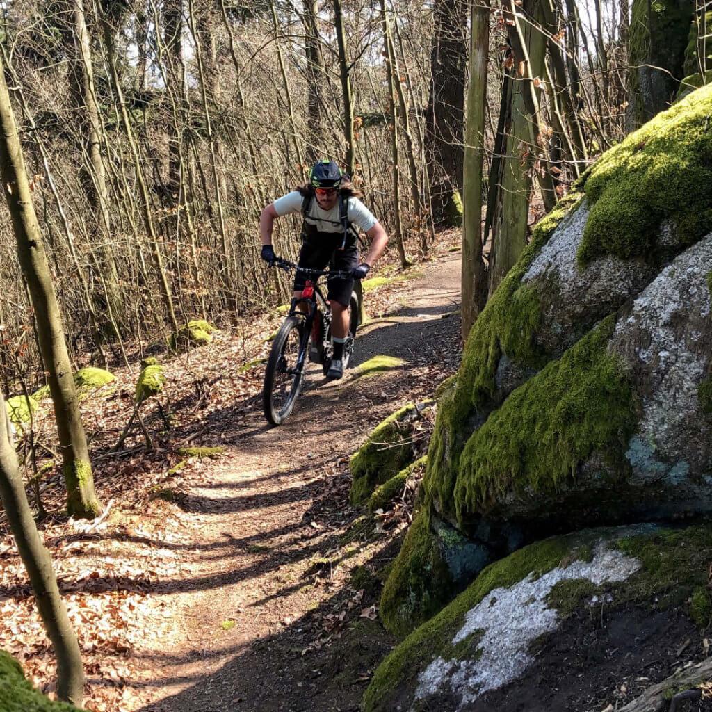 Natürliche Singletrails gibt es unzählige bei den Mountainbike Reisen Bayerischer Wald