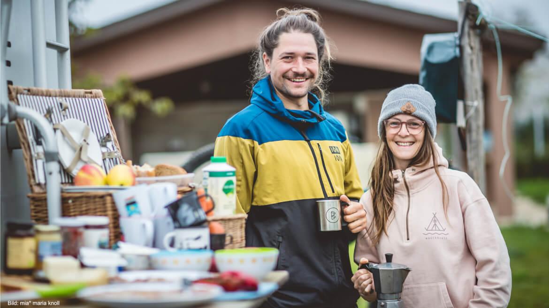 Claudi und Roman sind die Gastgeber bei den BUCKETRIDE Mountainbike Reisen und Bike Camps