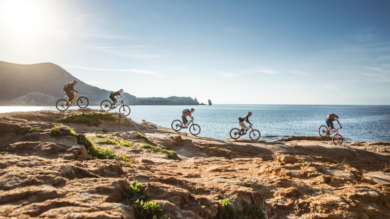 Trail am Meer bei den Mountainbike Reisen in der Toskana