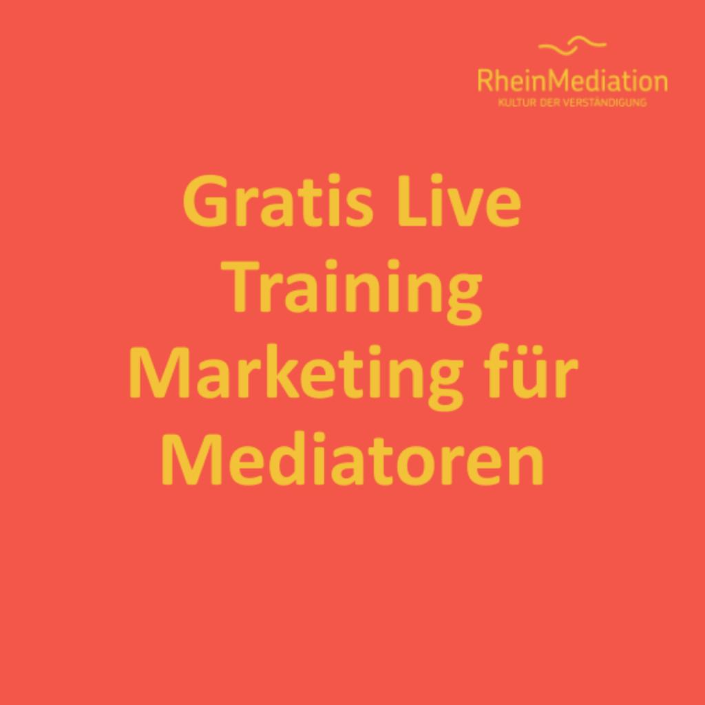 1 Stunde Gratis Live-Training – Marketing für Mediator:innen