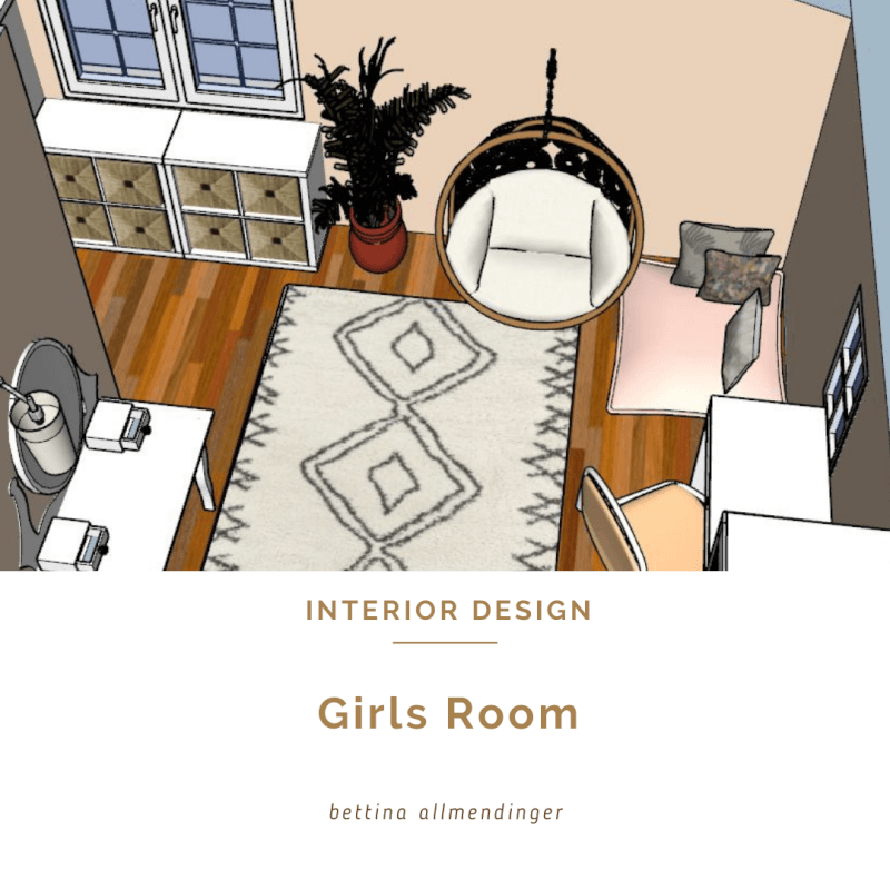 Girls room - bohemian style with a touch of romance