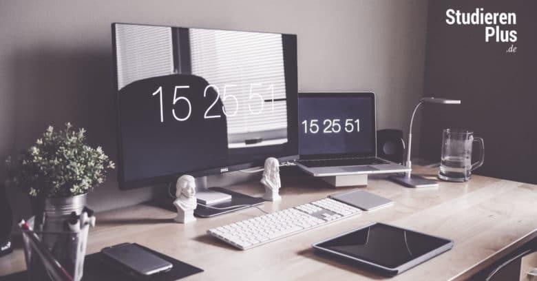 Schreibtisch aufräumen für die Prüfungszeit
