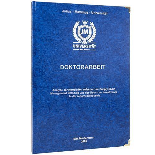 Dissertation binden Hardcover Buchecken