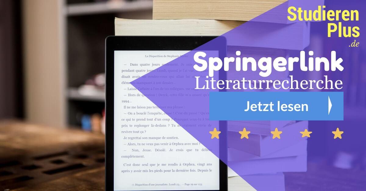 Springerlink: Tipp für die Literaturrecherche im Internet