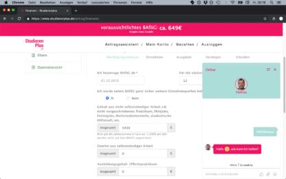 BAfög online beantragen mit StudierenPlus
