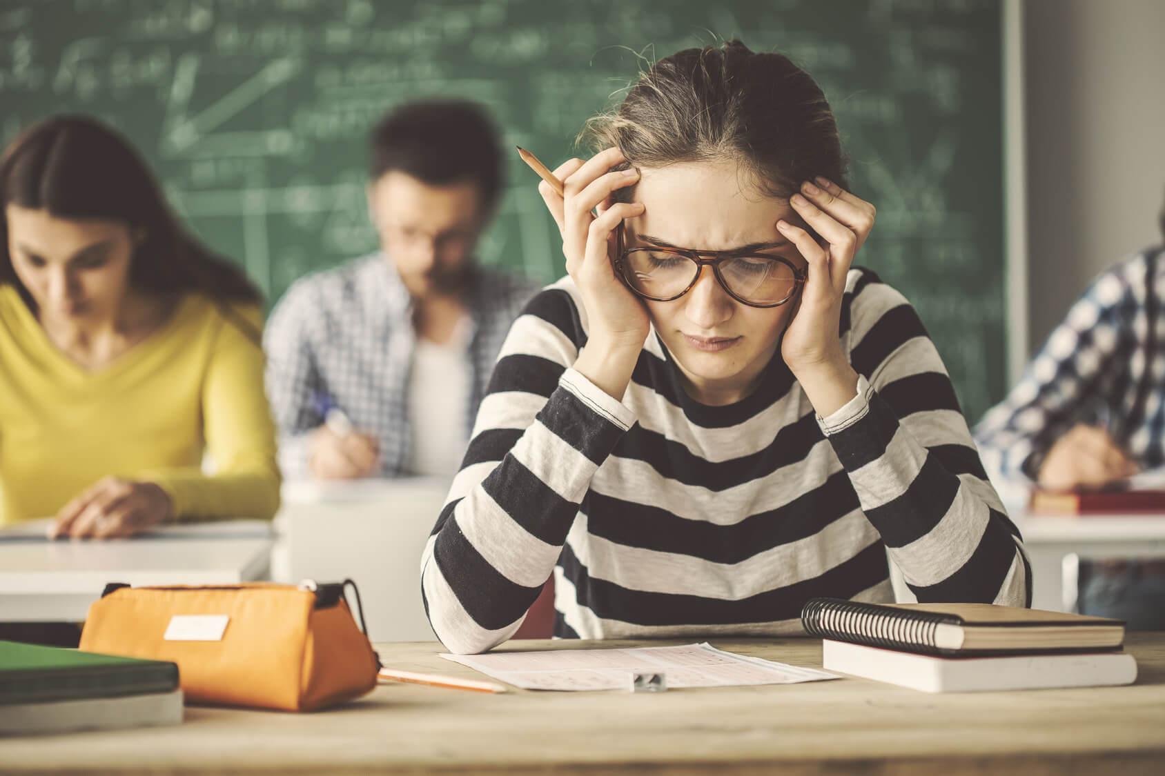 stress im studium: Blackout in der Prüfung