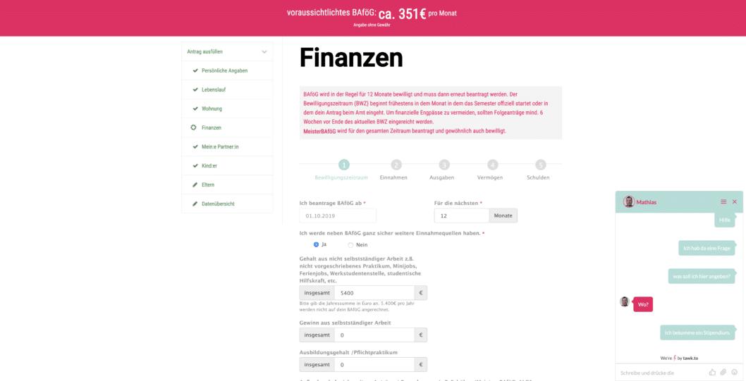 BAfög Antrag online stellen mit StudierenPlus