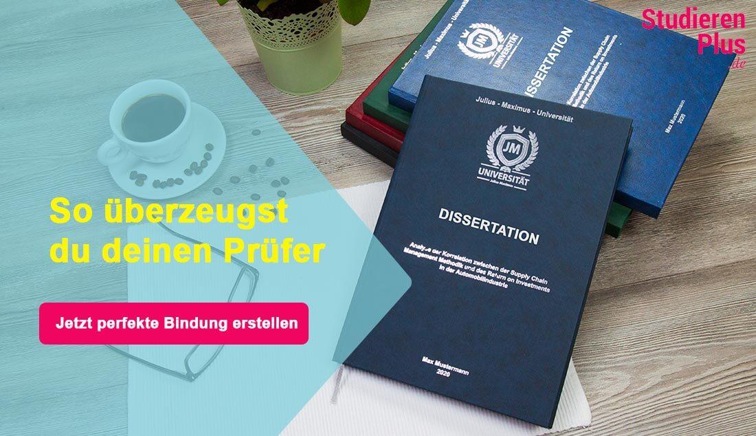 Dissertation drucken, binden & prägen lassen in 24h