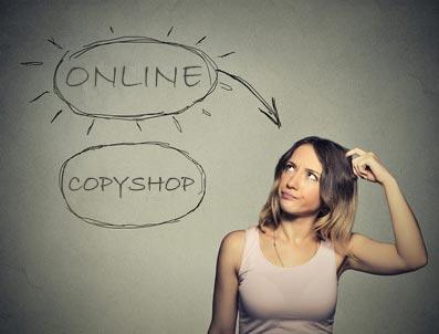 Hausarbeit drucken online vs. copyshop