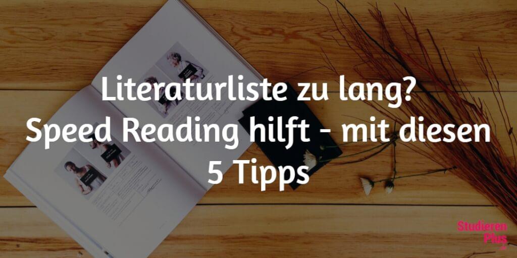 Speedreading – 5 Tipps, wie du die Literaturflut schneller meisterst!