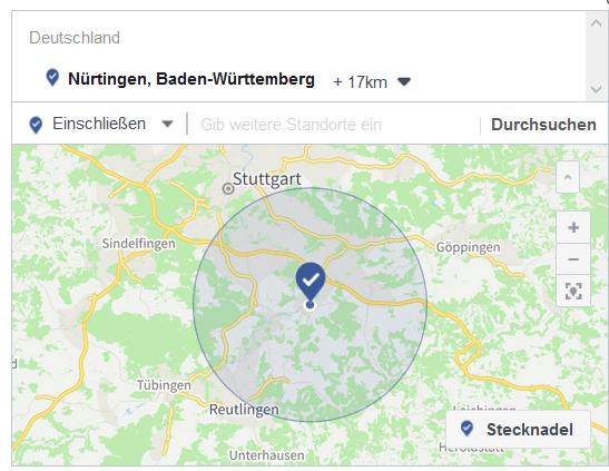 Regionales Targeting Facebook
