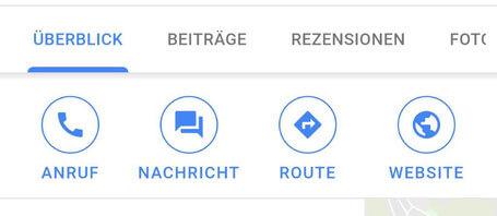 Google My Business Nachrichtenfunktion auf dem Smartphone