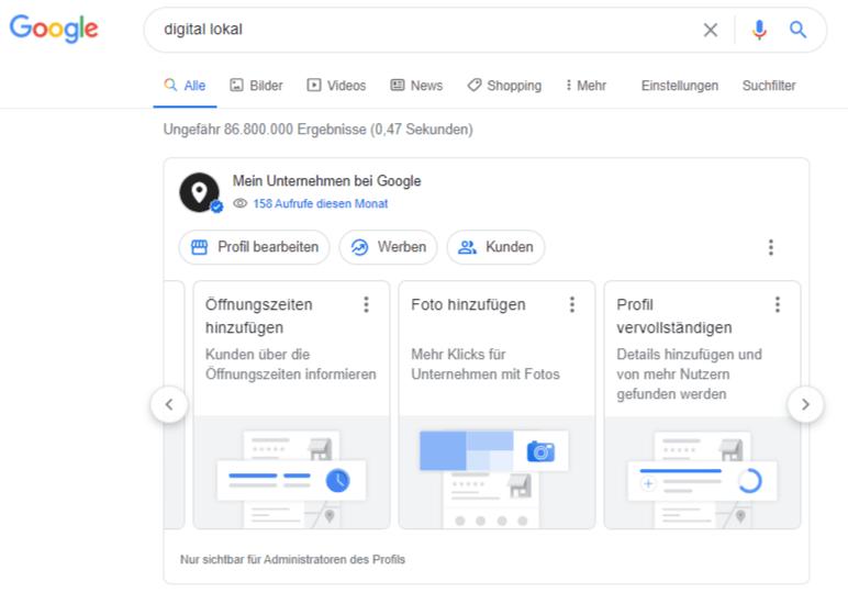 Google My Business Eintrag direkt über Google Suche aendern